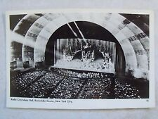 RPPC RADIO CITY MUSIC HALL ROCKEFELLER CENTER NEW YORK REAL PHOTO POSTCARD c1930