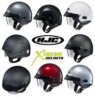 HJC IS-Cruiser Helmet Half with Inner Sun Shield Motorcycle XS S M L XL XXL