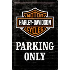 Nostalgic Art Tin Sign Harley Davidson Parking Only 40 X 60 Cm