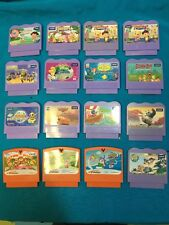 VTech V-Smile V-Motion Video Game Cartridge Lot Of 16 Dora Card Little Mermaid
