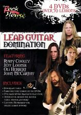 Lead Guitar Domination 4 DVDs with over 70 lessons Rock House DVD NEW 014037790