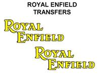 Royal Enfield Tank Transfers Decals Motorcycle Yellow Black D51055