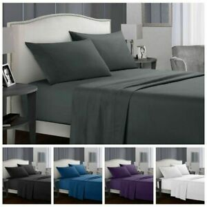 Microfibre Ultra Soft for Double,Queen or King Super Size Bed Sheet Set.4 Pieces