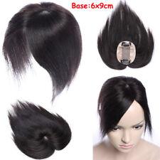 Silk Mono Base Women Hair Topper Hairpieces 100% Human Hair Top Wig Toupee Black