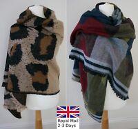 Ladies Women Tartan Plaid Checked Pashmina Scarf Wrap Shawl Warm Neck Fashion