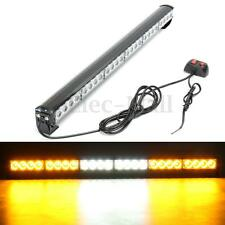 24 LED White Amber 27'' Emergency Traffic Advisor Flash Strobe Light Bar Warning
