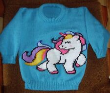 * UNICORN *..NEW SIZE 4 + HANDKNITTED100% ACRYLIC EASY CARE