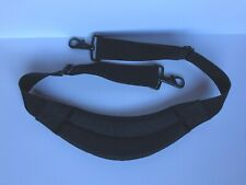 """L L Bean Black Replacement Duffle Bag Strap Only Padded 1.5"""" Wide Metal Clips"""