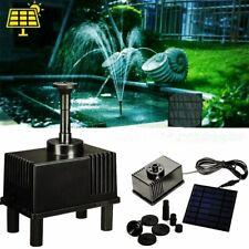 Solar Fountain Pump Kit Water Pump Pond with Sponge Filter Garden Patio 180L/H