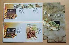 2005 Malaysia Rare Reptiles, 4v Stamps & MS pair fdc (Melaka Cachet) Lot B