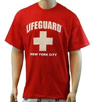 Lifeguard T-Shirt New York City Official Licensed Life Guard Tee Red