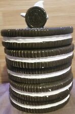 "Vintage ""OREO"" Cookie Jar Nabisco Classics Collection Stacked Cookies Milk"