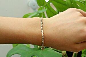 "9ct yellow gold illusion set diamond tennis bracelet 7"" 4.3g"