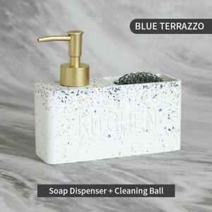 Kitchen Soap Dispenser Pump Bathroom Bottle Liquid Hand Dish Sponge Brush Holder