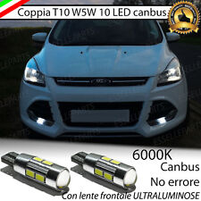 COPPIA LUCI POSIZIONE 10 LED FORD KUGA T10 W5W CANBUS NO AVARIA LENTE FRONTALE