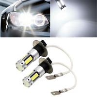 2PCS H3 4014 1100LM LED Car Fog DRL Light Bulb DC 12V White 6500K 25W High Power