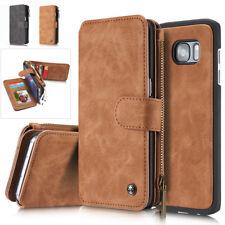 Portefeuille Flip détachable Carte Etui Cuir Housse Coque pr Samsung iphone 6S 7