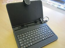 "Black 7"" Keyboard PU Leather Case/Stand for Samsung Galaxy Tab2 GP 1000 7 inch"