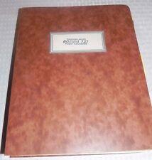 TWA Boeing 727 Flight Handbook Pages dated 1968-1972