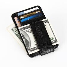 Magnet Money Clip Slim Men Wallet Credit Card Holder Leather Purse Cash Pocket