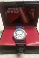 """Star Wars """"Storm Trooper"""" Perforated Blue Rubber Strap Watch"""