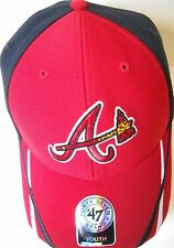 ATLANTA BRAVES KIDS YOUTH ADJUSTABLE A/TOMAHAWK LOGO RED AND BLUE CAP HAT