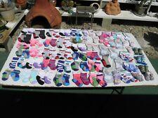 Lot of 118 Pairs Childrens Socks Elite Precious Moments Playskool 0- 6-12 months