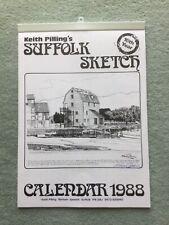 Keith Pilling's Suffolk Sketch Calendar 1988 signed copy