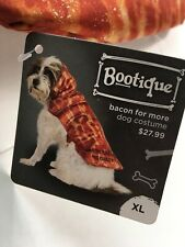"NEW BACON DOG COSTUME XL X LARGE OUTFIT BOOTIQUE CLOTHES 19-22"" INCH PET COAT 1"