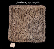 NWT Pottery Barn GATHERED FAUX FUR Pillow Cover 18X18 TAUPE *Christmas LUXURIOUS