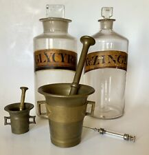 Antique Medical Old Doctors Bronze Mortar & Pestle Apothecary Medicine Pharmacy