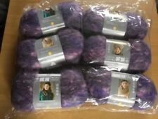 Joblot 6x85g Balls Patons Tweed Haze Knitting Yarn 12 Mohair Amethyst Purple a