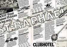 PUBLICITE ADVERTISING 044  1982  CLUB HOTEL  ST RAPHAEL  multipropriété (2 pag)