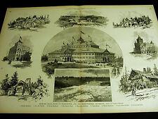 Spokane Falls Washington OPERA FALLS MILL DISTRICT HOMES 1890  Lg Folio Print