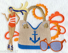 Nautical Fashionista Set Of 2 Bath Hand Towels Embroidered By Laura