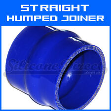 "Silicone Straight Humped Joiner/Coupler Hose - 63mm (2.5"") ID - Blue"