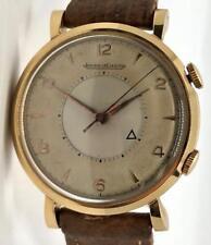 Jaeger LeCoultre Vintage Memovox 18K Rose Gold Manual Wind Watch 35mm cal. 489
