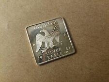 RARE 1969 Heraldic Eagle Silver Ingot 1/4 Ozt .999 Pure Hercaimy Enterprises