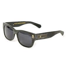 Sullen Black Flys Collab Fly 2 Gray Wood Grain Retro Style Sunglasses NEW