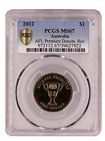 2012 Australian Decimal $1 Coin PCGS Grade Uncirculated MS67 AFL Premiers