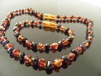 Genuine Amber Bracelet/Anklet or Necklace,Beads Knotted, bracelets 14-18 cm