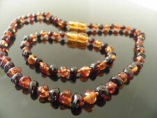 Genuine Amber Bracelet/Anklet or Necklace,Beads Knotted, bracelets 14-18 cm