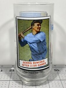 1993 McDonalds Topps Glass Gehrig Benched Coca Cola MLB All Time Greatest Team