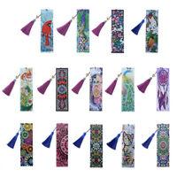 5D Diamond Painting Bookmark Cross Stitch Kits Art DIY Tassel Book Mark 6*21cm