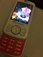 Sony Ericsson Walkman W100i Vodafone  White and Pink Slide Phone