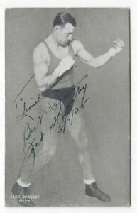 Jack Sharkey Signed Postcard 1935 / Boxing Autographed
