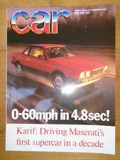 Car Apr 1988 Maserati Karif, Toyota Celica GT-Four