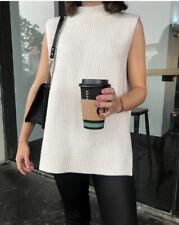 H&M Conscious Beige Rib Knit Slipover / Vest Size M SOLD OUT Bloggers Favourite