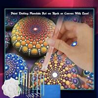 20PCS Mandala Dotting Tools For Rock Painting Kit Stencil Paint Art Pen Dot L9D6