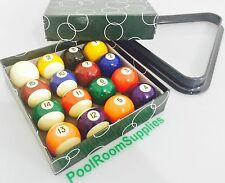 "Brand New Kelly Pool Balls and Triangle Set 1 & 7/8"" inch in Size Gift ON SALE"